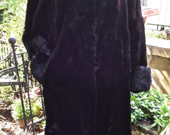 Vintage Luxurious  Long Sheared Mink Long Coat