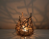 Nature Inspired Organic Shadow Candle Lamp, Tealight Candle Holder Nature Lamp
