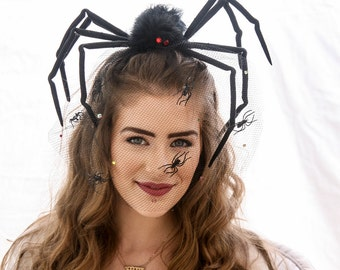 Big Spider Headband Costume Hair Accessories Halloween Costumes Halloween Spider Women, Black Widow Adult Halloween Costume Hair Accessories