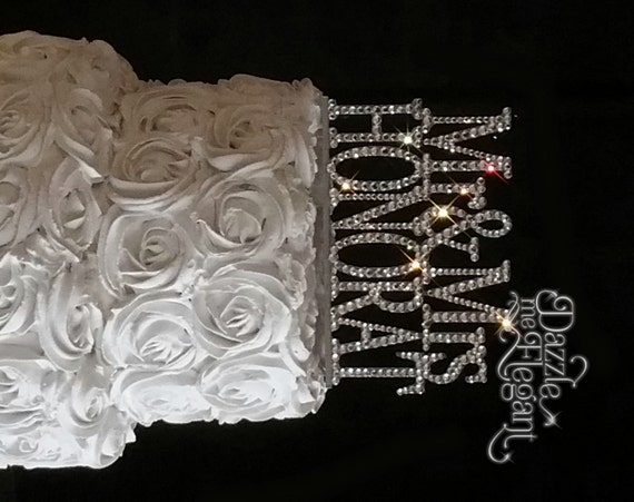 crystal bride and groom wedding cake toppers name cake topper wedding cake topper personalized last 13104