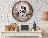 personalized wedding photo gift - unique wedding gifts for couple - 1st anniversary gift - wedding gift last name established - photo clock