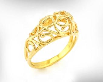 unique wedding band gold wedding ring statement wedding ring handmade design ring - Wedding Ring For Women