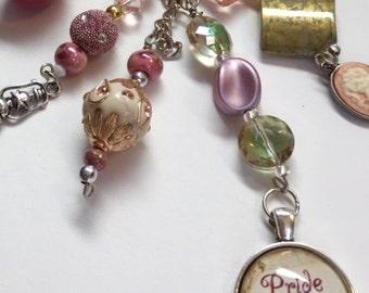 Pride and Prejudice purse handbag charm Jane Austen