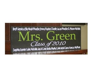Teacher Personalized Sign