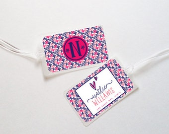 Girls Personalized Luggage Bag Tag- Multi Floral