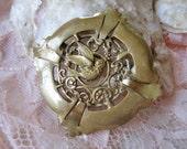 Antique bird brooch, Victorian brooch, Antique swallow brooch, House Martin brooch
