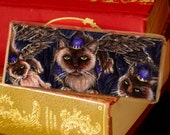 Flying Monkey Cats Bookmark Wizard of Oz Inspired Cat Bookmark