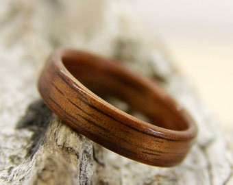 Wood Wedding Band - Hawaiian Koa - Wooden Ring - Wood Wedding Ring - Custom Made