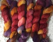 Hand dyed Polworth Top - 4 oz - Tanya