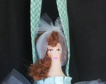 Ballerina door hanger, ballerina ornament, ballerina doll