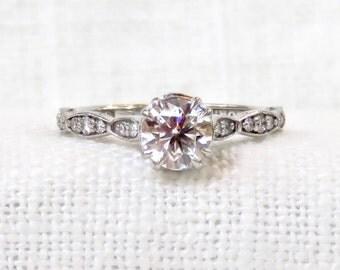 Vintage Tacori 18k Gold Diamond Engagement Ring .94 Carat