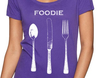 foodie gifts - food gift - chef gift - chef tshirt - cooking gifts - baking shirt - baking gifts - foodie shirt -cook gift-FOODIE-scoop neck