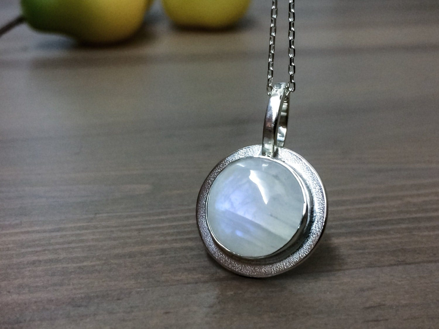 Moonstone Necklace. Rainbow Moonstone Necklace. by ...