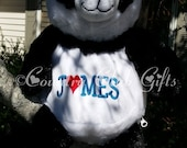 Personalized baby gift, birth announcement, best baby gift ever, plush, Panda Bear,subway art, stuffed animal with name,Embroider buddy