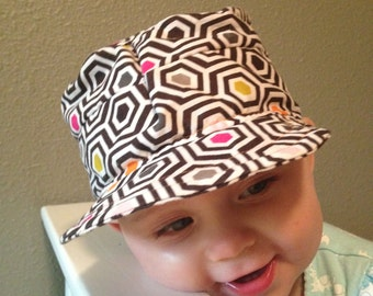 Baby Hat. Cadet and newsboy inspired sun hat.