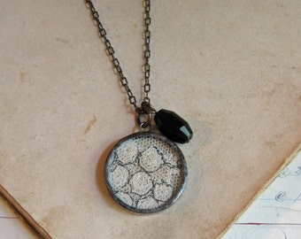 Antique Lace Jewelry One of a Kind Glass Pendant
