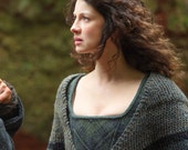 Claire Rent Shawl Outlander Triangle Tweed Vegan Yarn, 3 Color Options, Made to Order