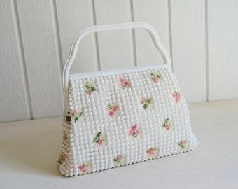 Vintage 60's Bubble Handbag or Floral Pastel Bubble Mod Handbag