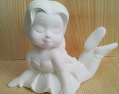 Ballerina on Stomach 5 x 7 Ready to paint Ceramic Bisque made in USA