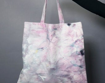 Ice Dyed Canvas Tote Bag