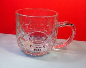 Elizabeth R 1953 - Queen Elizabeth - Coronation Tankard - Half Pint Tankard - Coronation Glass
