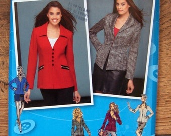 SALE 2012 simplicity pattern 1781 misses jacket runway projects sz 6-14 uncut front and collar variations