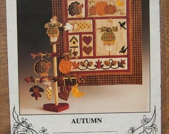 1994 Wall Quilt pattern 18 x 20 inches AUTUMN uncut