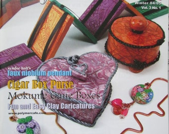 PolymerCAFE - Winter 04/05, Tutorial, Book, Polymer Clay, Clay, Sculpey, supply, tools, Metal Clay, Jewelry