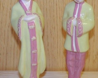 Weil Ware Asian Couple Figurines