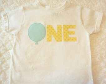 One Year Birthday Shirt, Two Year Old shirt or Four Year old shirt- Birthday Balloon Shirt