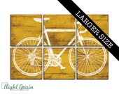 EXTRA Large Vintage Road Bicycle Wall Art - Bicycle Print - Custom Bike Print 32x48