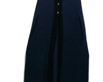 Vintage Blue Cape Vintage Blue Sweater Knit Cape Sweater Capes For Women Long Capes For Women Knitted Capes For Women Cape Cardigan
