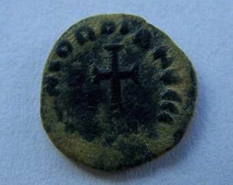 Authentic Roman Coin of Honorius, 394-423 A.D.   Reverse; Cross