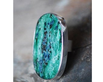 Fuchsite Crystal Ring