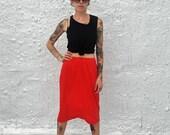 CLEARANCE 1960s Vanity Fair Vintage Red Nylon Half Slip Bombshell Mad Men Era Lingerie XS/S