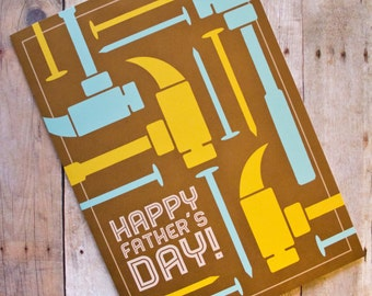 Happy Father's Day Hammer and Nails Card