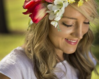 Tilly Floral Crown Silk Flower Crown Maternity Photoshoot Wedding Accessory