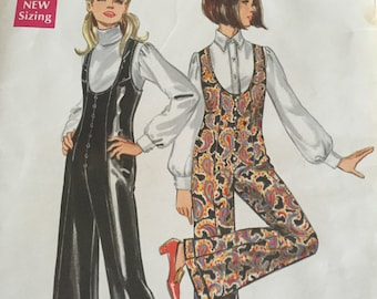Vintage 1960s Butterick Pattern 5373 Womens Fitted Jumpsuit -  Size Medium - Bust 34 Inches