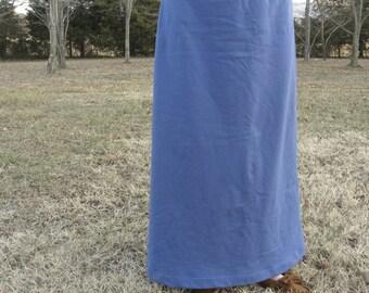 Organic Cotton Clothing Sweatshirt Fleece Maxi Skirt  Made in the USA - Organic Cotton Clothing