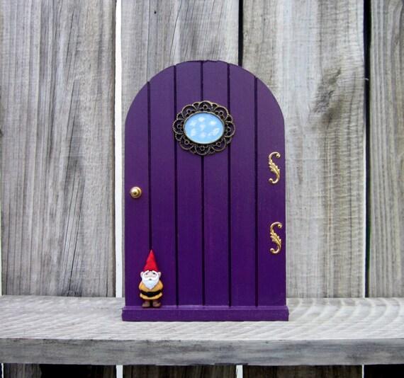 Fairy door purple magical door faerie door by for Purple fairy door