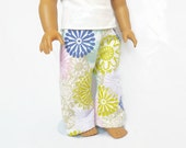 18 Inch Doll Pajama Pants, Doll Clothes, Girl Doll Pajamas