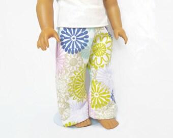 18 Inch Doll Pajama Pants, Doll Clothes, Girl Doll Pajamas
