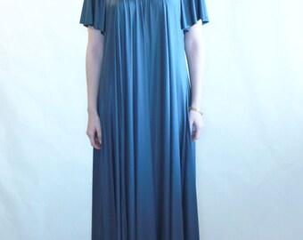 Maxi flare dress, prom dress, party dress, oversize dress, plus size, maternity prom dress, gold dress, dark gray dress