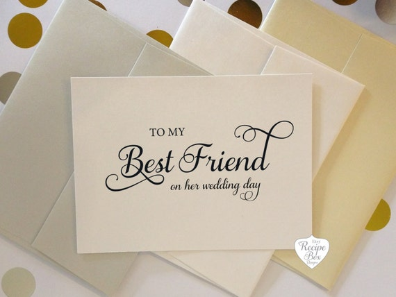 Gift For My Best Friend On Her Wedding Day : My Best Friend on my wedding day To My Best Friend Wedding Day on her ...