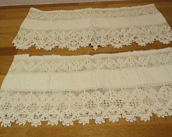 Hand Crochet Trim, Vintage 1930s