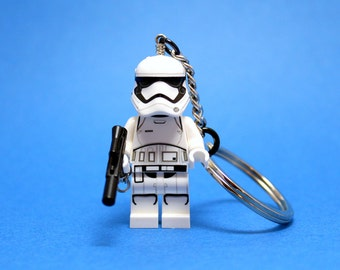 First Order Stormtrooper Keychain - made from Genuine Star Wars  LEGO®  Minifig