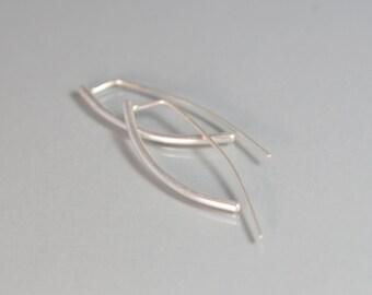 Modern Earrings Sterling Urban Cool Silver Artisan Jewelry