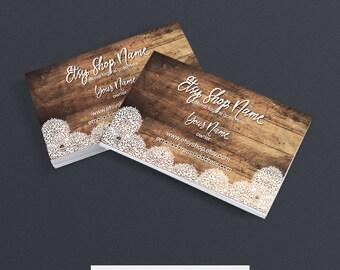 30% OFF SALE Business Card Designs - Printable Business Card Design - Premade - Allison