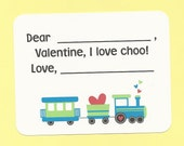 Choo Choo Train Valentines - Fill in the Blanks Valentine's Day Cards - Great for Little Boys and Girls