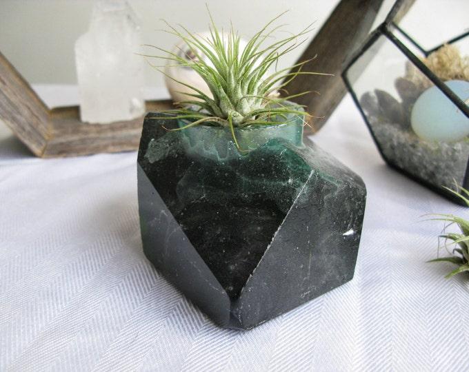 Crystal geode decor, crystal quartz decor, Nature lover, Glass Votive Candle Holder, Bedroom Decor, Calgary, boho decor, ooak